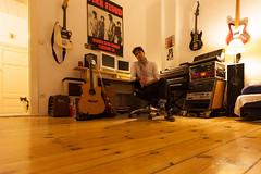 home studio (bluevizion) Tags: portrait music berlin cat germany studio louis guitars pinkfloyd woodfloor homestudio ef1635mmf28liiusm canoneos5dmarkii benschroeter