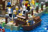 The Market Gate - Dock (Bricktease) Tags: lego moc market gate medieval tbb afol bricktease bricknetwork legos custom model scene king queen knights game thrones