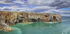 Chase the dark away (pauldunn52) Tags: wales head cliffs limestone pembrokeshire stackpole