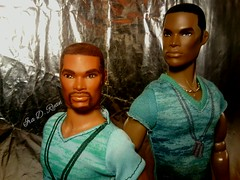 brothers (krixxxmonroe) Tags: ira d ryan photography krixx monroe styling ooak custom integrity toys fashion royalty tariq darius reid handsome black brown aa male doll models