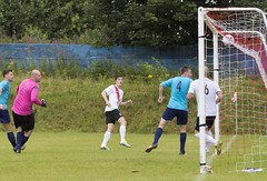Nicky Little volleys home from a tight angle to bring Bankies level (Stevie Doogan) Tags: clydebank glasgow perthshire exsel group sectional league cup wednesday 10th august 2016 holm park