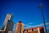 Skyline Rotterdam. 000. (George Ino) Tags: copyright georgeino georgeinohotmailcom holland nederland netherlands rotterdam kopvanzuid erasmusbrug earlyevening avondfotografie nightphotography citynightscape centrum citycentre altstadt architecture architectuur skyline hoogbouw blue blauw wilhelminaplein