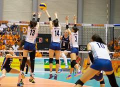 27252087 (roel.ubels) Tags: volleybal volleyball nederland oranje holland zuidkorea southkorea rotterdam topsportcentrum sport topsport 2016