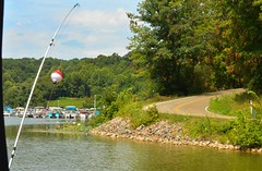 boats and road (brown_theo) Tags: burr oak state park marina road fishing pole bobber odnr