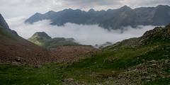 Widok z przełęczy Boet na francuską stronę