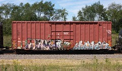 Coma/Perv (quiet-silence) Tags: graffiti graff freight fr8 train railroad railcar art coma perv cfc boxcar tr tr405110