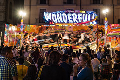 Carousel (Minieri Nicola) Tags: giostra carousel street urban city architecture people festa party travel night luci light girl longesposure longexposition