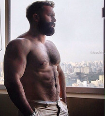 Thick beard and chest! (mike--123) Tags: shorts vpl beard