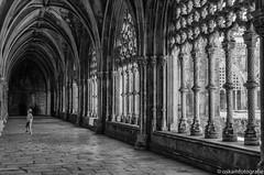 walking down the aisle (renate-oskam) Tags: blackandwhitephotography blackandwhite streetphotography monastery portugal architecture