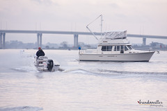Hello from Jacksonville, Florida (3 of 4) (bMi2fotografx) Tags: excite fun heat lifestyle outdoors people photography play song waterfront work pleasure river jacksonvilleflorida electric line bridge fikshingline boats boaters salty