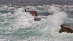 Surge (Sundornvic) Tags: sea surf waves foam water saltwater atlantic ocean wash stone breakwater sennen sennencove cornwall kernow