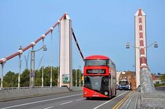 LT727 (stavioni) Tags: arriva london transport tfl 137 bus double decker red chelsea bridge blue sky lt727 ltz1727 wright wrightbus nb4l new routemaster