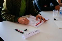 Joan Cornell - Bienal de Quadrinhos de Curitiba 2016 (cassijones.) Tags: cassijones cassijonescom cassianorosario brazil brasil joancornell bienaldequadrinhosdecuritiba2016 joan cornell bienal quadrinhos curitiba 2016 portrait retrato canon illustrator cartoonist cartoon hq