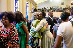Spring Into Praise-58 (Atlanta Berean Church - photos.atlantaberean.com) Tags: greeting hug man smile welcome woman