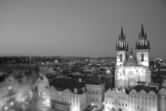 Chram Matky Bozi pred Tynem - Staromestske namesti, Prague (Fredosingas) Tags: prague czechrepublic staremesto tiltshift bw