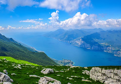 A view to savour (10000 wishes) Tags: monteboldo malcesine alps italy travelphotography lakegarde view clouds sunny outdoor