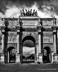 Arc de Triomphe du Carrousel (Armin Hage) Tags: paris france winter architecture louvre museedulouvre arch palaisdestuileries arcdetriompheducarrousel