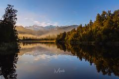 Lake Matheson in the morning glow. (Mikey Mack) Tags: foxglacier westcoast newzealand nz