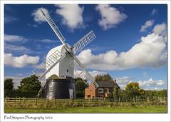 Wrawby Windmill, Lincolnshire (Paul Simpson Photography) Tags: wrawbywindmill wrawby windmill postmill northlincolnshire sonya77 october2016 imagesof imageof paulsimpsonphotography photoof photosof sails lincolnshirewindmills bluesky grass village england uk house polarisedimage polarisedbluesky viewsof