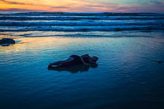 She of the Sea (West Leigh) Tags: oregon oregoncoast ocean beach sunset twilight wanderlust wander she sleep rest peaceful yachats water sea travel travelphotography tranquil explore experience dream discover wonder wandress blue woman waves tokateeklootchman