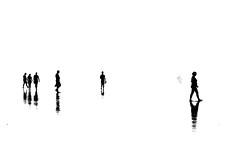 Silhouettes (susacu) Tags: silhouttes fog coast atlantic people black minimalism white