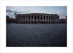 Arena di Verona (andyrousephotography) Tags: italy verona arena amphitheatre roman arcades ellipse gladiators earthquakes giuseppeverdi opera concerts morning early dawn bluehour canon eos 5d mkiii