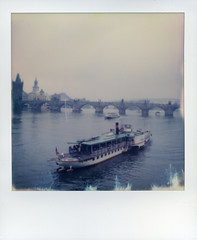 Charles Bridge (This Is A Wake Up Call) Tags: polaroid slr680se impossibleproject roidweek2016 autumn prague vltava