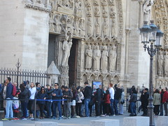 Paris - people on line to visit the towers of Notre Dame (bronxbob) Tags: paris france architecture cathedrals notredamedeparis cathedralenotredamedeparis churches