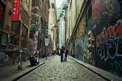 Hosier Lane (Christopher Goode) Tags: film analog analogue kodak ektar 100 om olympus om20 zuiko australia queensland new south wales nsw qld victoria vic melbourne sydney canberra brisbane thredbo jindabyne tenterfield winter road trip adventure
