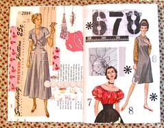 Pattern Journal #2 (Lydia's Post) Tags: journal artjournal junkjournal journalpages collage paperart cutandpaste sewingpattern vintagepattern 1950sdress