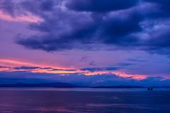 Purple evening (dominiquesainthilaire) Tags: nikon nikond7100 thailand kohyaoyai see mer sunset coucherdesoleil seascapes landscapes paysages purple violet light orange worldtrekker