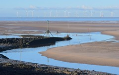 River Alt curves and verticals (Lancs & Lakes Outback Adventure Wildlife Safaris) Tags: mersey liverpool sea beach turbines river sand breakwater crosby