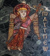 Saint Matthew (Kells) (Lawrence OP) Tags: evangelist saints stmatthew kells marble nationalshrine immaculateconception basilica mosaic