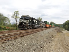 Norfolk Southern Chicago Line / MP 474 West (codeeightythree) Tags: ns norfolksouthernrailroad norfolksouthernchicagoline otisindiana otis indiana chicagoline stacktrain containertrain freighttrain transportation