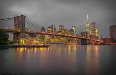 GOTHAM (jlucierphoto) Tags: manhattan newyork brooklyn bridge skyline water waterfront dumbo cloudy overcast outdoor city landscape river architecture