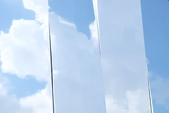 Slices of sky (zinnia2012) Tags: reflections sky clouds abstract zinnia2012 reflets ciel nuages abstrait surreal