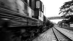 Incoming oil tankers (haqiqimeraat) Tags: bangladesh blackwhite blackandwhite bw monochrome nikon chittagong railway composition tokina 1116mm ultrawide
