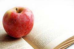 Buch mit Apfel (engl. A Book and An Apple) (wuestenigel) Tags: hobbie apfel book apple reading poetry oldbooks school fruit freetime novel