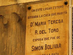 María Teresa R. del Toro, mujer que fue de Simón Bolívar. Calle Fuencarral. Madrid (Carlos Viñas-Valle) Tags: simonbolivar mariateresa fuencarral