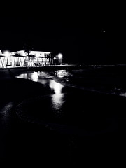 (electricgecko) Tags: mallorca balears balearic iphone mobile monochrome palma portixol esmolinar beach night