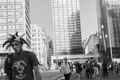 Sad Clown - Lonesome Town (Andre Santa Rosa) Tags: clown portrait portraiture portraits black white bw city urban brazil sao paulo sopaulo feelings people rush sadness brasil tristeza palhao pessoas retratos fotografia photography preto e branco pb sp nikon 2016 d3100 adobe lightroom