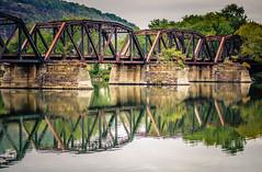 Rails over water (starrienight) Tags: railroadbridge river marina bridge susquehannariver railroad