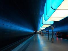 Last Exit HafenCity Universitt (kurtwolf303) Tags: hafencityuniversitt ubahnstation metro blue blau train zug olympusem1 omd microfourthirds micro43 systemcamera hamburg germany deutschland topf25 unlimitedphotos 250v10f topf50 500v20f topf75 u4 750views publictransportation architecture architektur 1000v40f topf100 1500v60f topf150 2000views