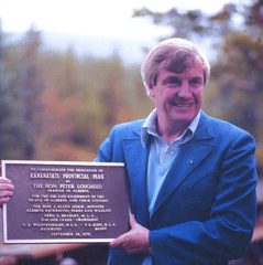 Historical Photo (Alberta Parks) Tags: peter lougheed alberta parks kananaskis history historical people 1976