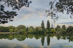 Wasserpark (A.B. Art) Tags: wien wolken water wasser wasserpark vienna abart austria starburst911 clouds cloudy wolkig bume trees spiegelung reflection colors farben hdr milllenniumtower