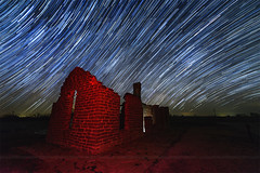 Star trails at the ruin Fort, Fort Griffin (wisanuboonrawd) Tags: star starry trails fort griffin long exposure dark sky milky way texas historical site nightscape