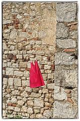 simply red (EwaHB) Tags: textures brick masonry stone stonework brickwork wall tuscany italy red