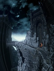 Dark Souls III (ConnecteD\_) Tags: dark souls iii bridge mountain castle sky screenshot panoramic panorama