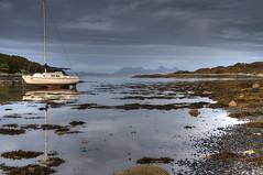 Glen Uig Bay (silverlarynx) Tags: glen uig scotland highlands sea rum eigg yacht