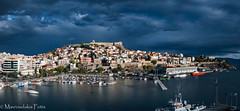 Panoramic view of Kavala City (Mavroudakis Fotis) Tags: symbol past early nature island city sky evening vacation mountain house holiday sea medieval antique historic beauty harbor europe typical traditional culture path tourism travel old panorama village europa ancient fort history light outdoor home place morning coastline water urban night town abstract seaside cityscape buildings historical landmark river landscape coast mountains beach destination abandoned accommodation riviera photography background dusk pirates twilight greece kavala mediterranean aegean